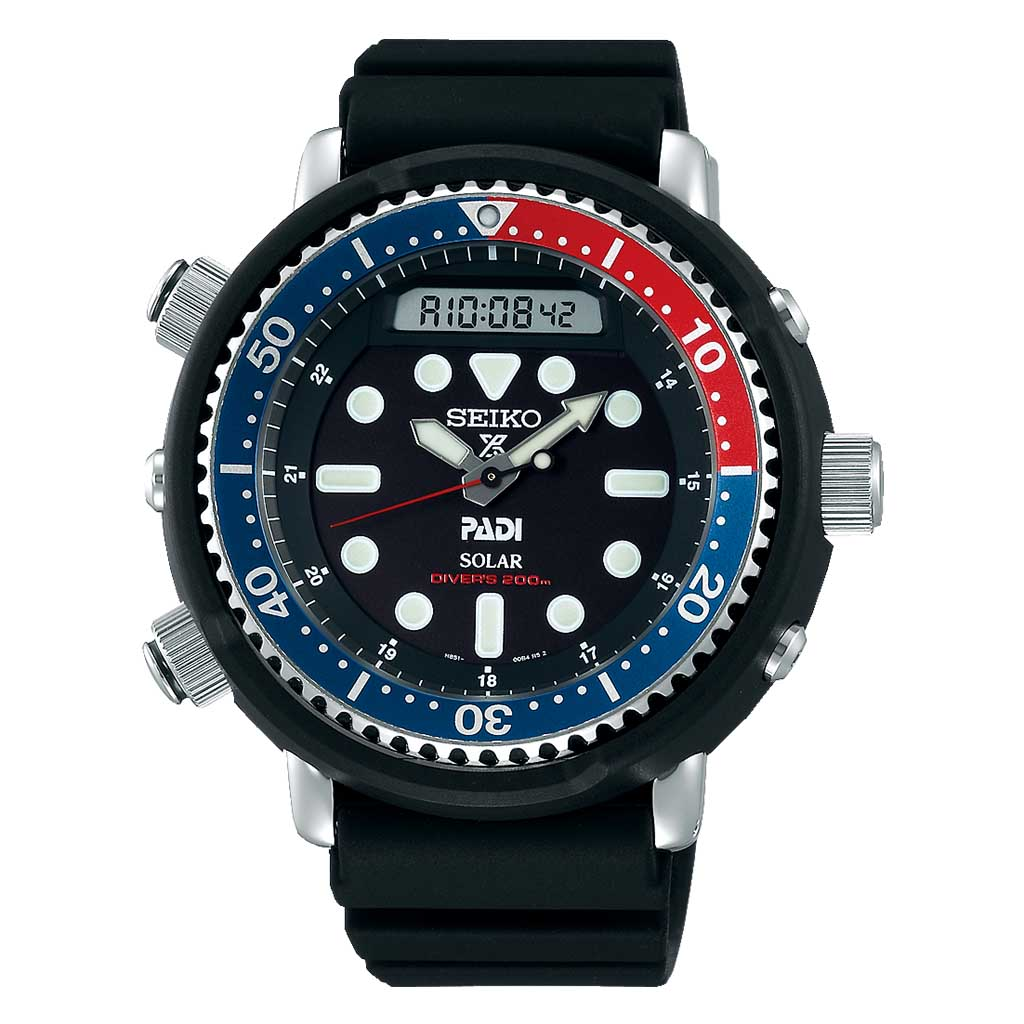 Seiko Prospex PADI Solar Hybrid Men's Divers Watch SNJ027P1 - Hollins and Hollinshead
