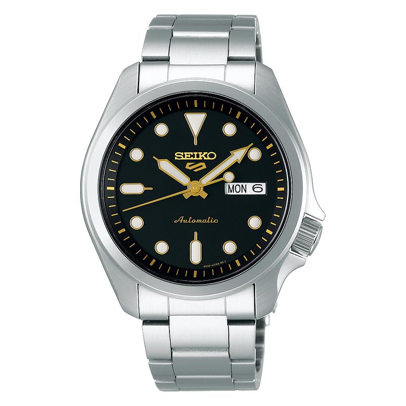 Seiko 5 Automatic Black Dial Mens Watch SRPE57K1 - Hollins and Hollinshead