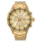 Seiko Chronograph Yellow Gold Colour Bracelet Men's Watch SKS646P1 - Hollins and Hollinshead