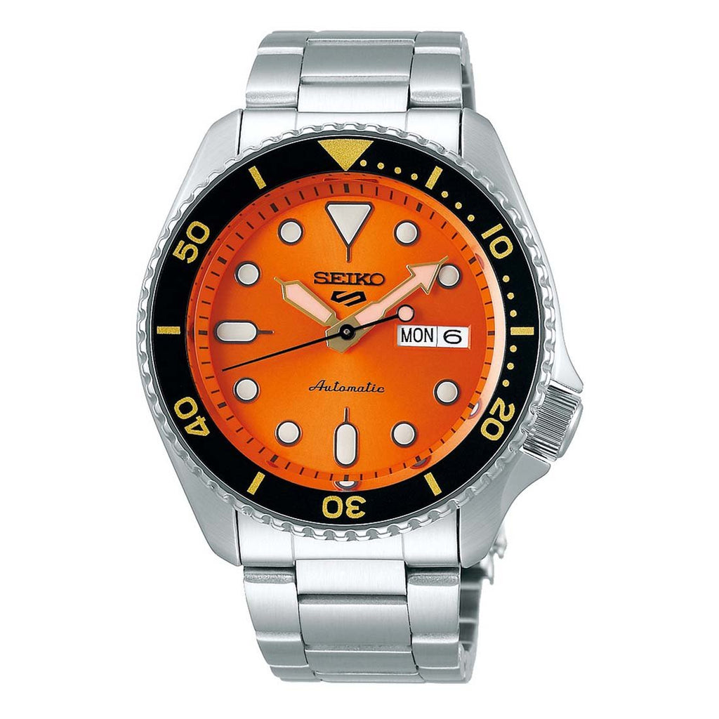 Seiko 5 Automatic Orange Dial Mens Watch SRPD59K1 - Hollins and Hollinshead