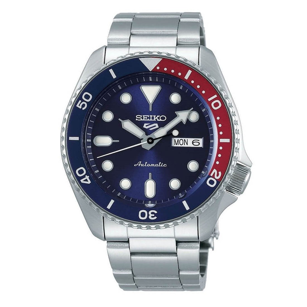 Seiko 5 Automatic Pepsi Dial Mens Watch SRPD53K1 - Hollins and Hollinshead