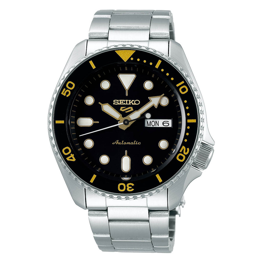 Seiko 5 Automatic Black Dial Mens Watch SRPD57K1 - Hollins and Hollinshead