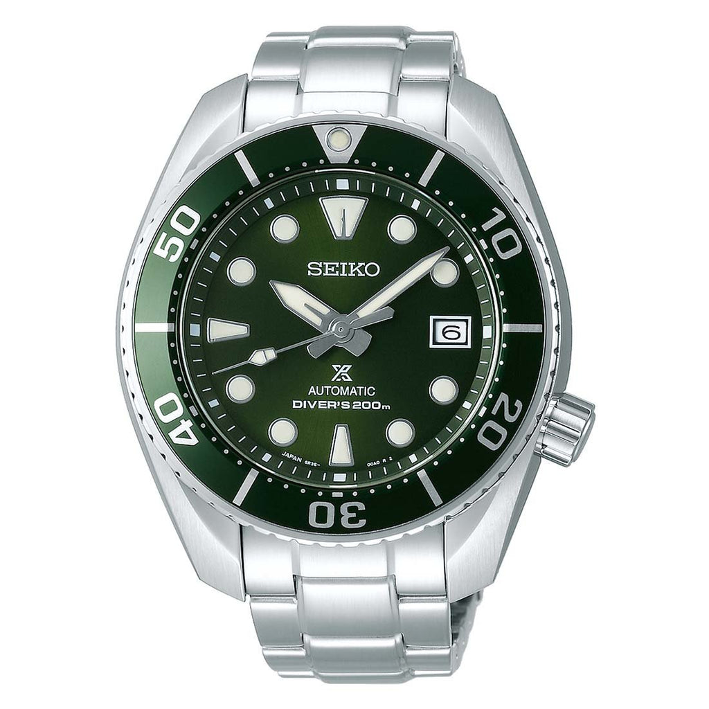 Seiko Hulk Prospex Sumo Automatic Men's Green Divers Watch SPB103J1 - Hollins and Hollinshead