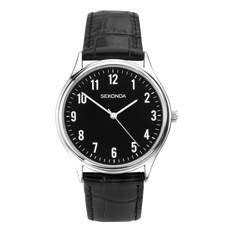 Sekonda Black Dial Mens Watch 1777 - Hollins and Hollinshead