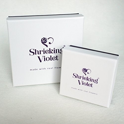 Shrieking Violet Real Flower Purple Haze Stud Earrings BLE02 - Hollins and Hollinshead