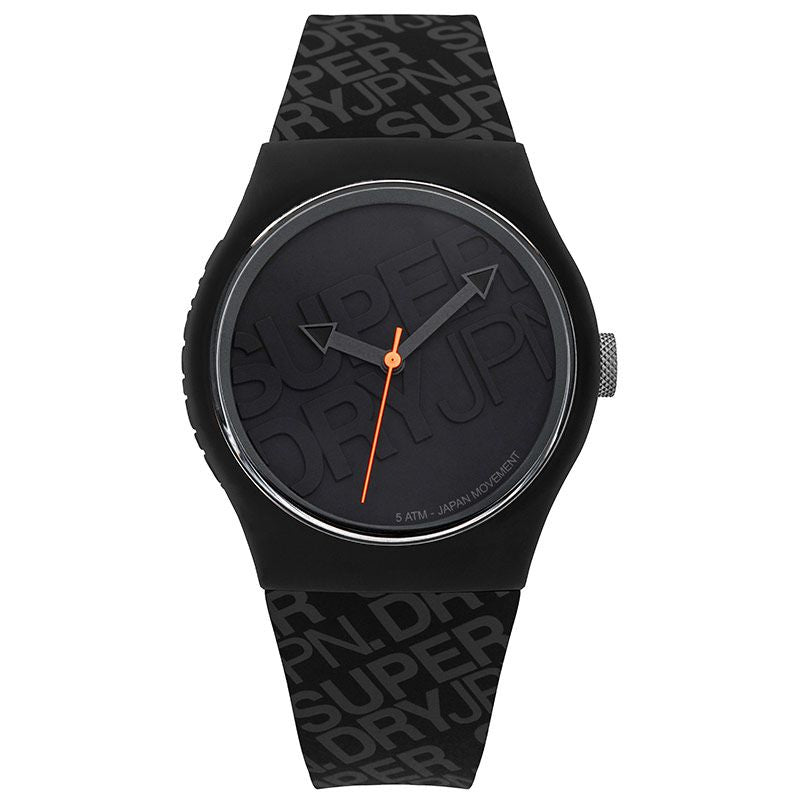 Superdry Urban Black Silicone Strap Unisex Watch SYG169B - Hollins and Hollinshead