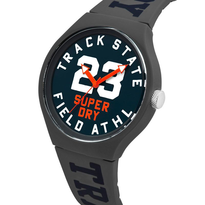 Superdry Urban Track and Field Grey Mens Watch SYG182UE - Hollins and Hollinshead