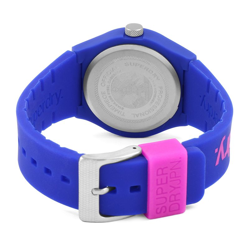 Superdry Urban Unisex Blue and Pink Watch SYG198UU - Hollins and Hollinshead