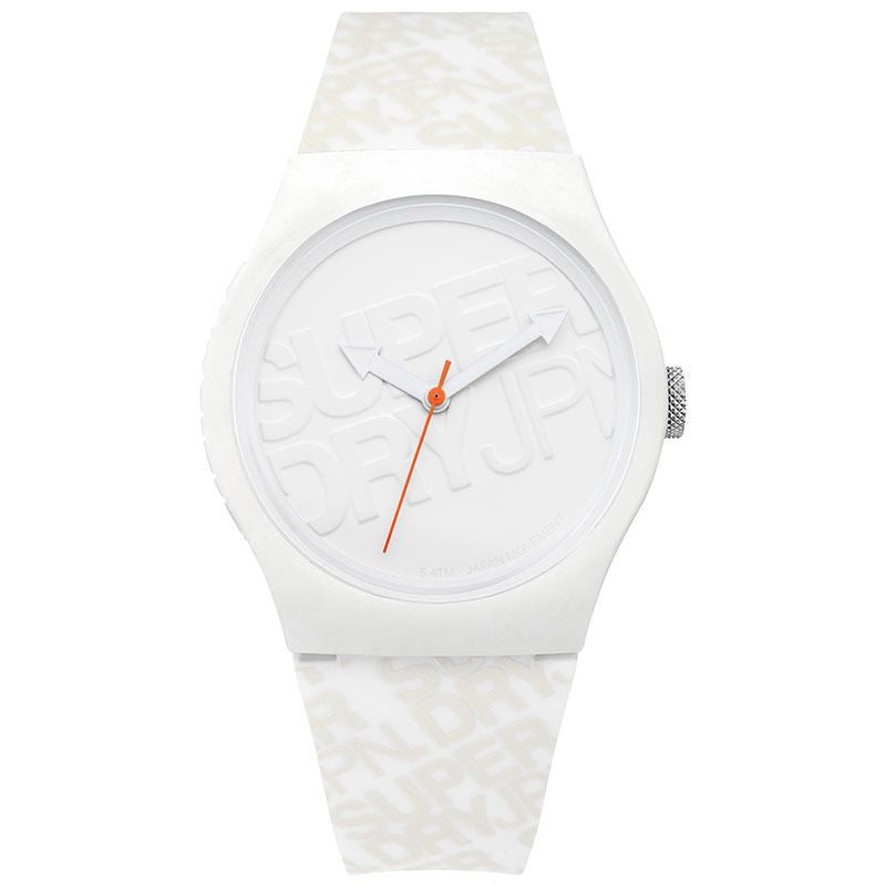 Superdry Urban White Silicone Strap Unisex Watch SYG169W - Hollins and Hollinshead