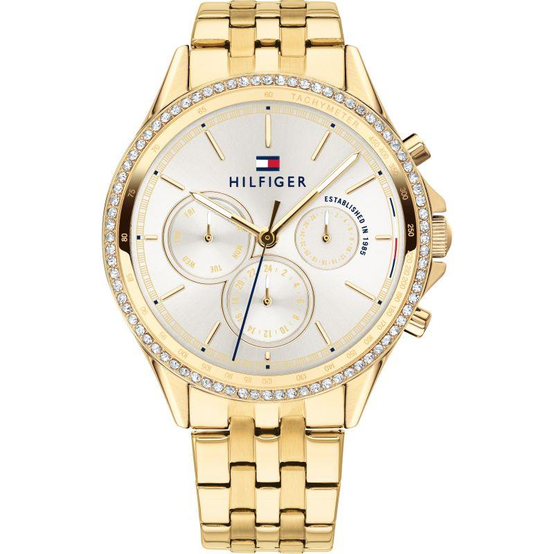 Tommy Hilfiger Ari Gold Plated Ladies Watch 1781977 - Hollins and Hollinshead