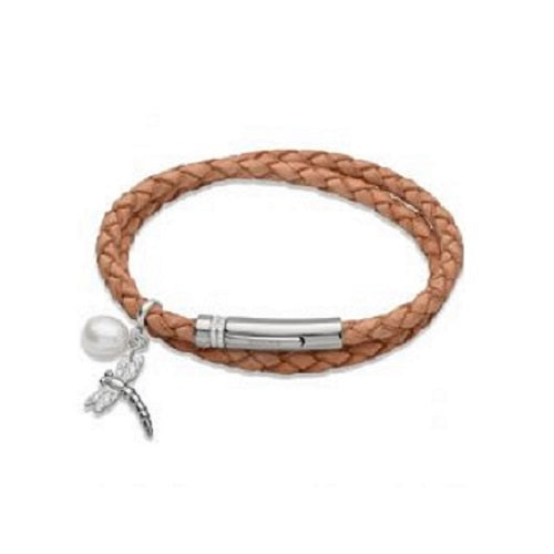 Unique Brown Leather Wrap Around Ladies Bracelet B267NA - Hollins and Hollinshead
