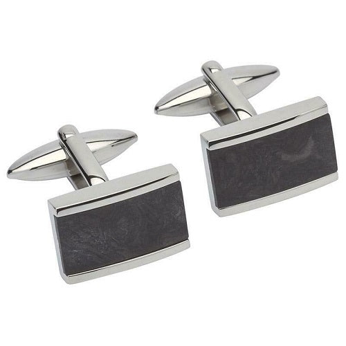 Unique Stainless Steel Cufflinks QC-217 - Hollins and Hollinshead