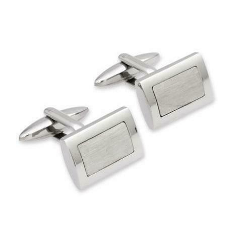 Unique Stainless Steel Cufflinks QC-53 - Hollins and Hollinshead