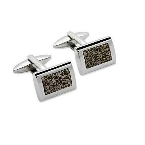 Unique Stainless Steel Cufflinks QC-76 - Hollins and Hollinshead
