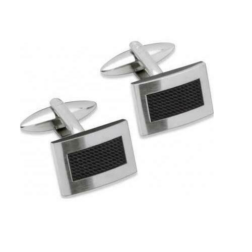 Unique Stainless Steel Cufflinks QC-88 - Hollins and Hollinshead