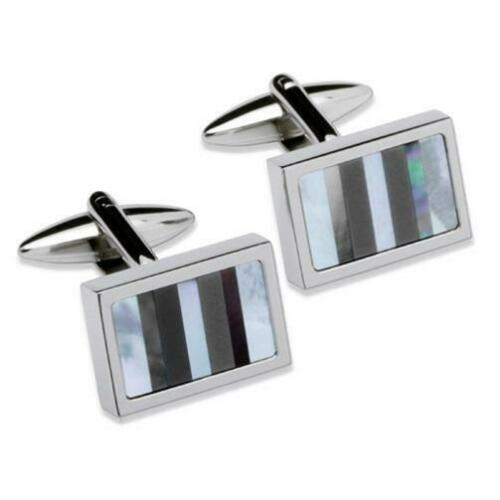 Unique Stainless Steel Cufflinks QC-92 - Hollins and Hollinshead