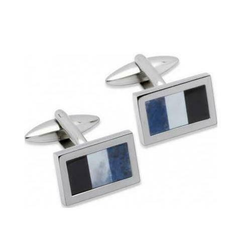 Unique Stainless Steel Cufflinks QC-93 - Hollins and Hollinshead