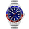 Accurist Signature Collection Pepsi Dial Steel Divers Mens Watch 7327 - Hollins and Hollinshead
