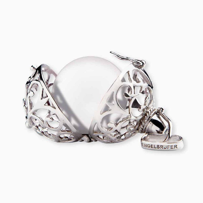Engelsrufer Angel Whisperer Silver White Soundball Pendant ER-01-M - Hollins and Hollinshead