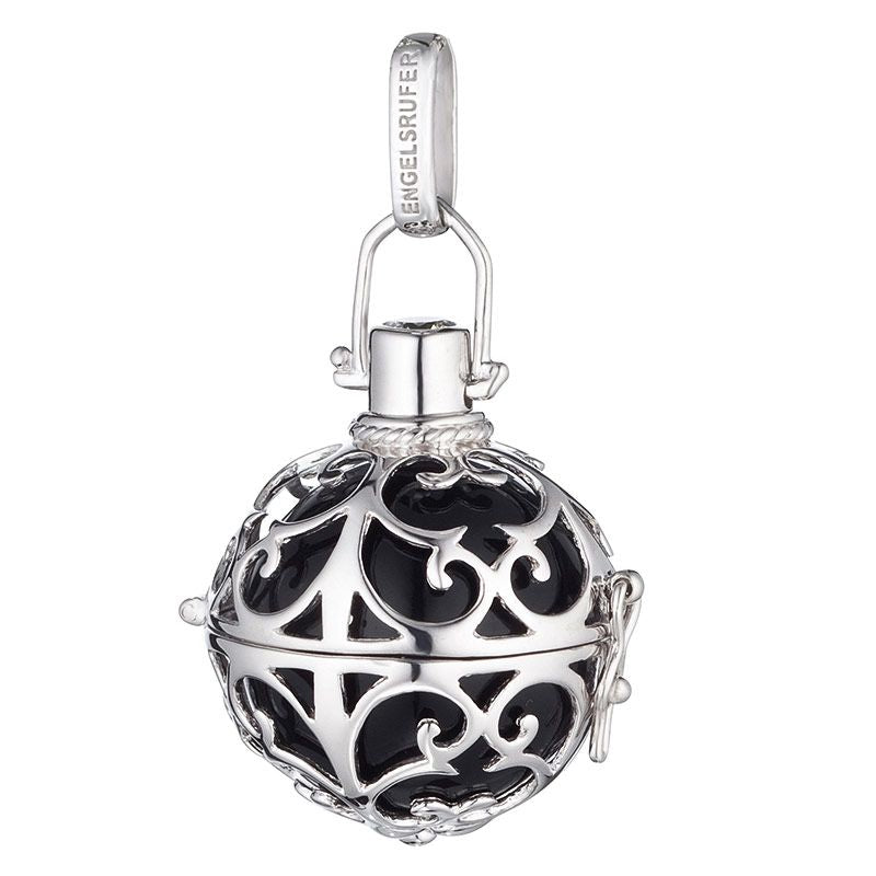 Engelsrufer Angel Whisperer Silver Black Soundball Pendant ER-02-S - Hollins and Hollinshead