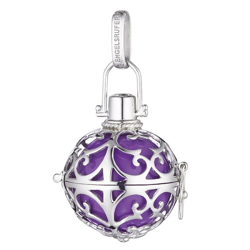 Engelsrufer Angel Whisperer Silver Purple Soundball Pendant ER-08-S - Hollins and Hollinshead