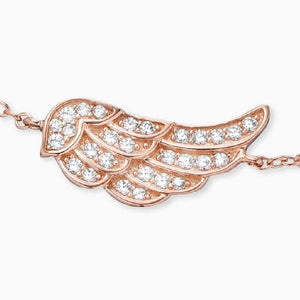 Engelsrufer Rose Gold Plated Silver Wing Bracelet ERB-LILWING-ZI-R - Hollins and Hollinshead
