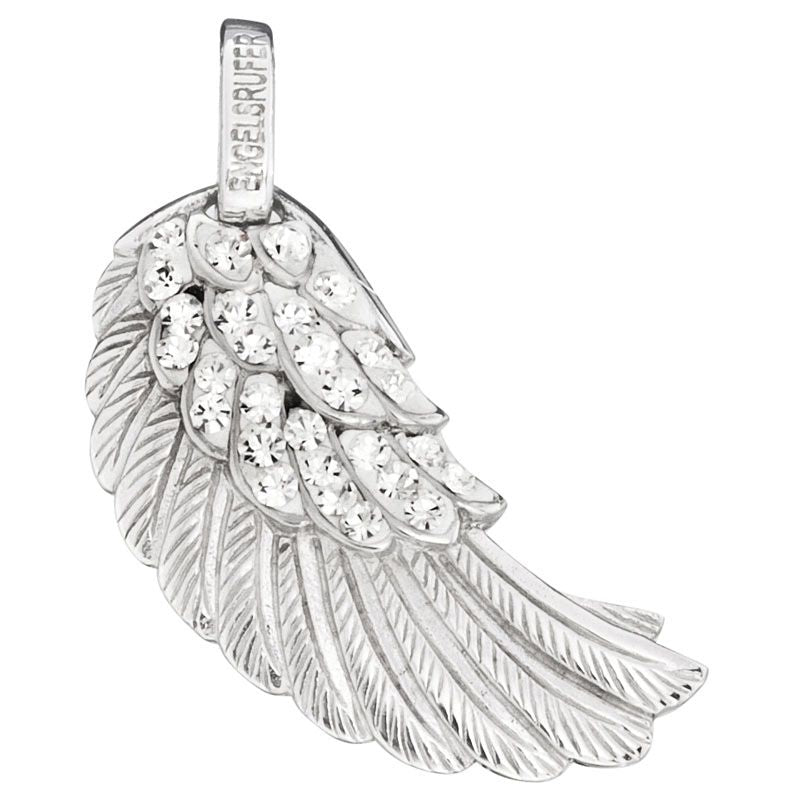 Engelsrufer Silver White Crystal Angel Wing Pendant ERW-M-01-ZI - Hollins and Hollinshead
