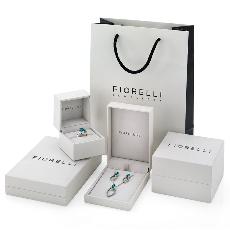 Fiorelli Silver Round Pave CZ Earrings E4686C - Hollins and Hollinshead