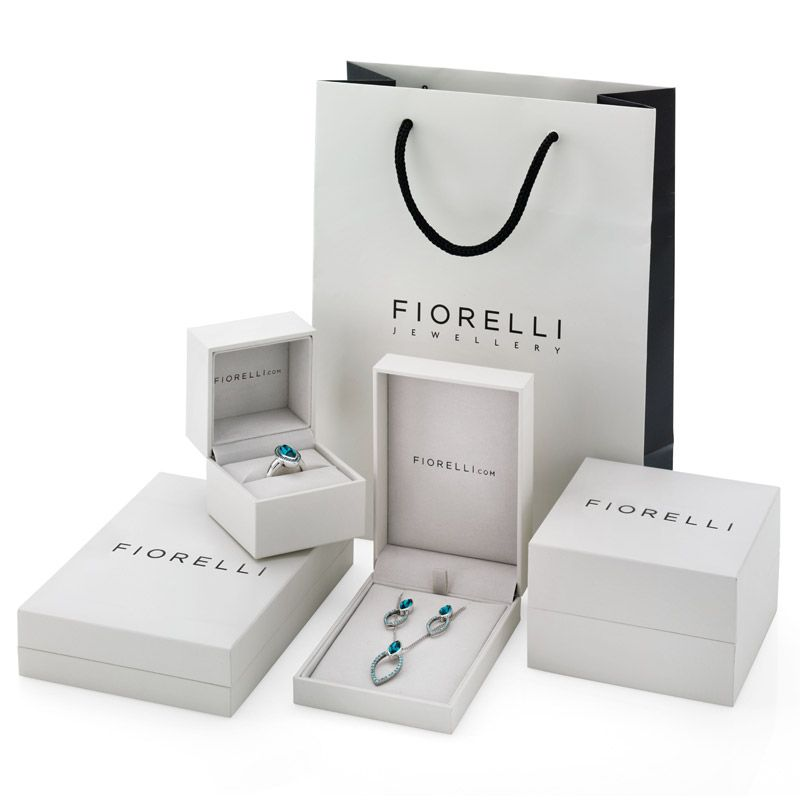 Fiorelli Silver CZ Two Tone Drop Earrings E5083C - Hollins and Hollinshead