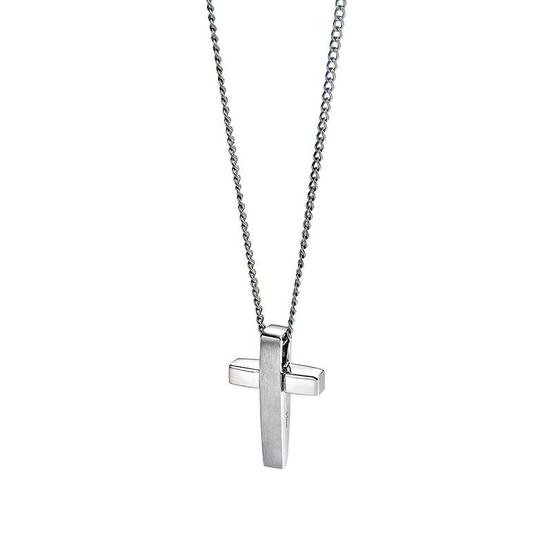 Fred Bennett Stainless Steel Cross & Chain P2542 - Hollins and Hollinshead