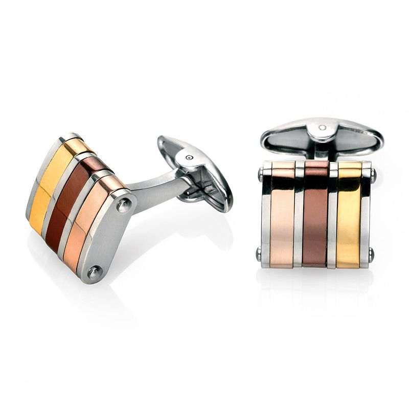 Fred Bennett Stainless Steel Cufflinks V475 - Hollins and Hollinshead