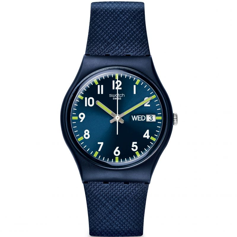 Swatch Sir Blue Unisex Watch GN718 - Hollins and Hollinshead
