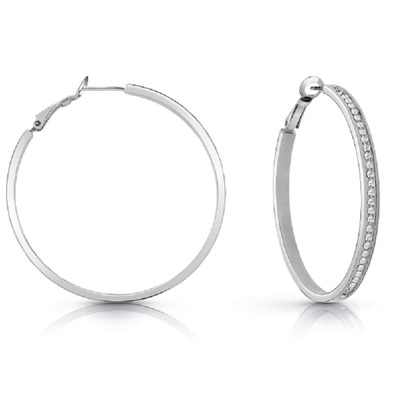 Guess All Around Guess Hoop Earrings UBE28094 - Hollins and Hollinshead