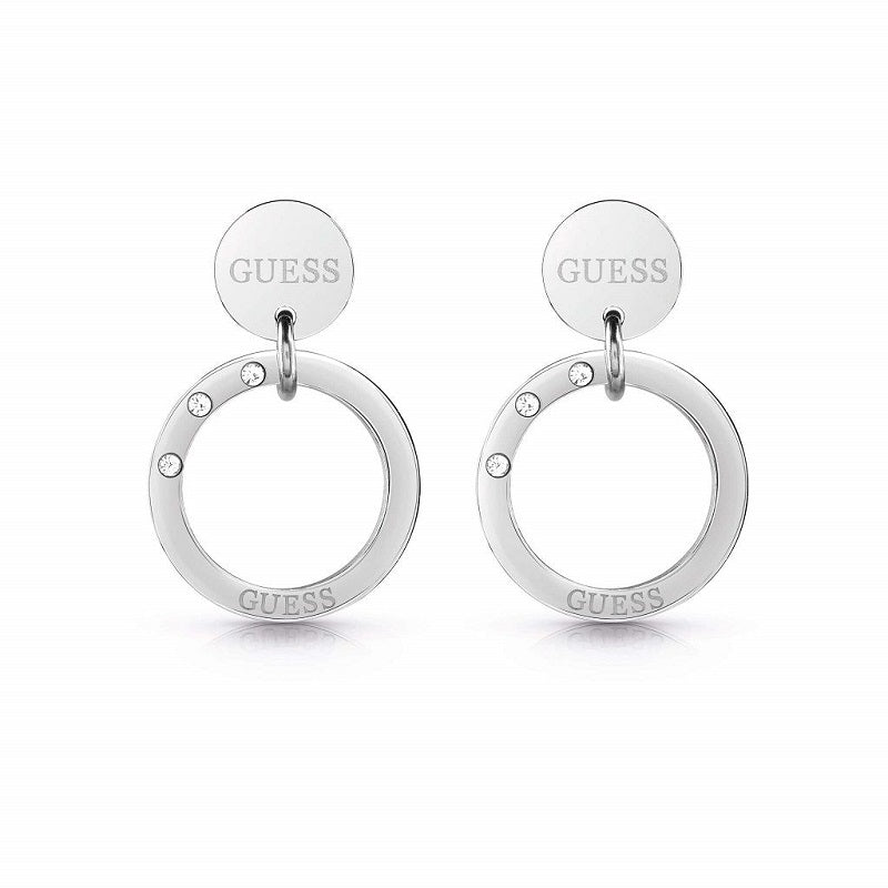 Guess Eternal Circles Drop Earrings UBE29030 - Hollins and Hollinshead