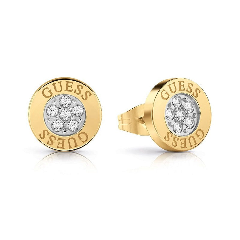 Guess Love Knot Crystal Stud Earrings UBE78023 - Hollins and Hollinshead