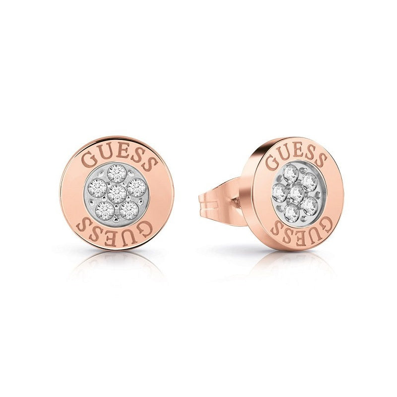 Guess Love Knot Crystal Stud Earrings UBE78024 - Hollins and Hollinshead