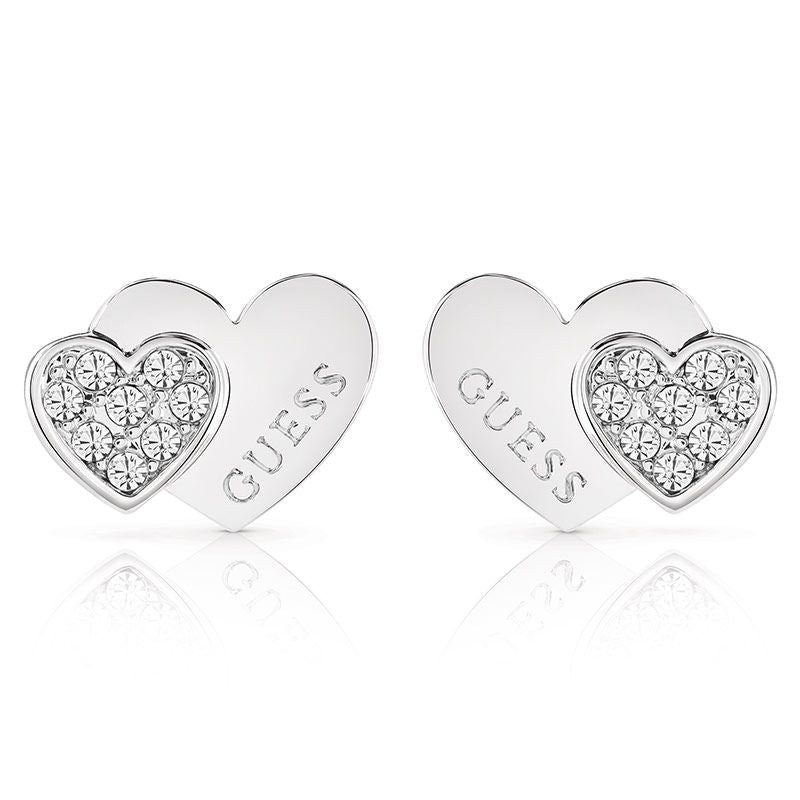 Guess Me and You Heart Stud Earrings UBE84118 - Hollins and Hollinshead