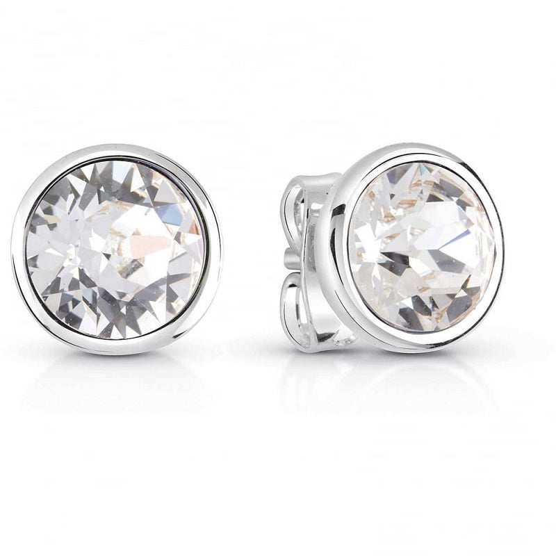 Guess Miami Rhodium Plated Stud Earrings UBE83059 - Hollins and Hollinshead