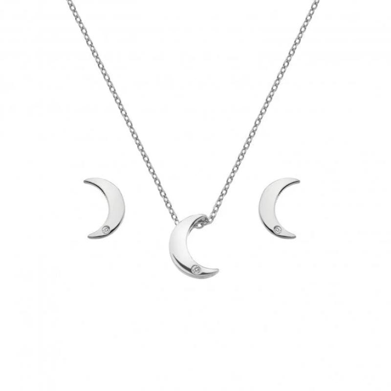 Hot Diamonds Amulets Crescent Earring and Necklace Set SS133 - Hollins and Hollinshead