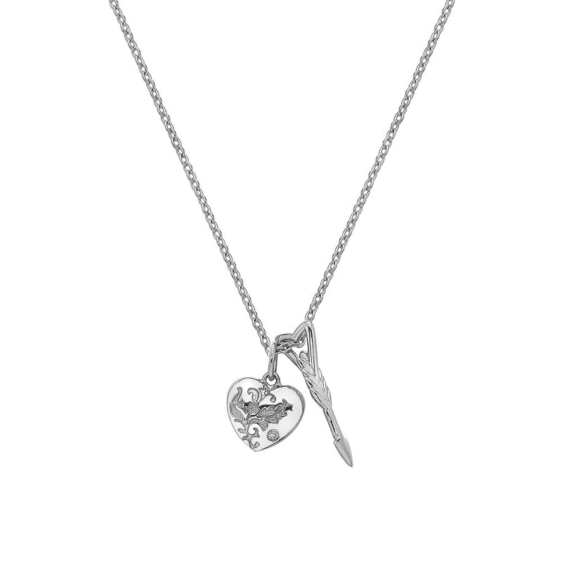 Hot Diamonds Silver Cupid Pendant DP751 - Hollins and Hollinshead