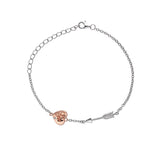 Hot Diamonds Silver and Rose Gold Plated Cupid Bracelet DL598 - Hollins and Hollinshead