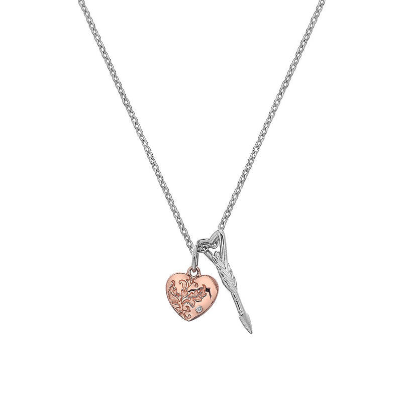 Hot Diamonds Silver and Rose Gold Plated Cupid Pendant DP750 - Hollins and Hollinshead