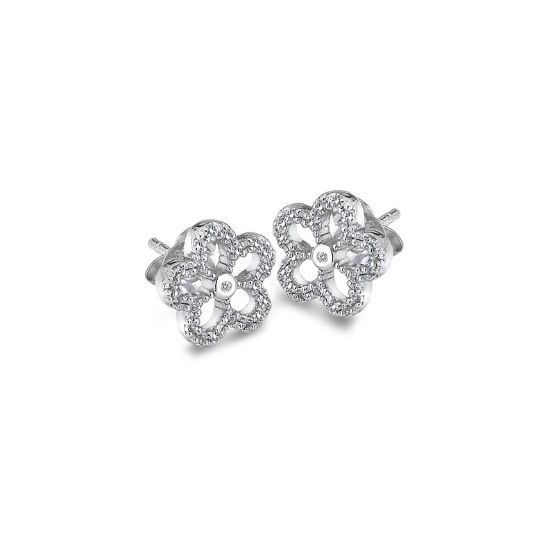 Hot Diamonds Gentle Daisy Silver Stud Earrings DE583 - Hollins and Hollinshead