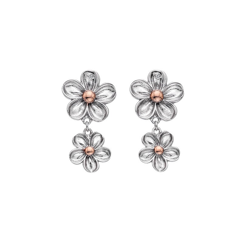 Hot Diamonds Forget Me Not Drop Earrings DE617 - Hollins and Hollinshead
