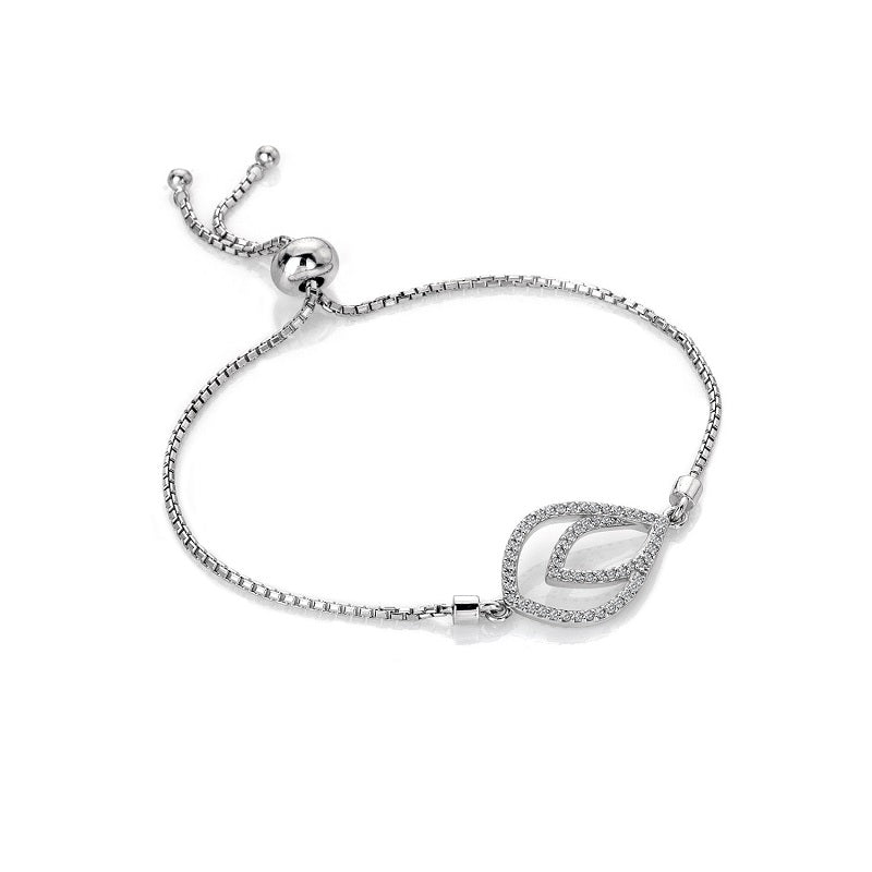 Hot Diamonds Harmony White Topaz Silver Bracelet DL592 - Hollins and Hollinshead