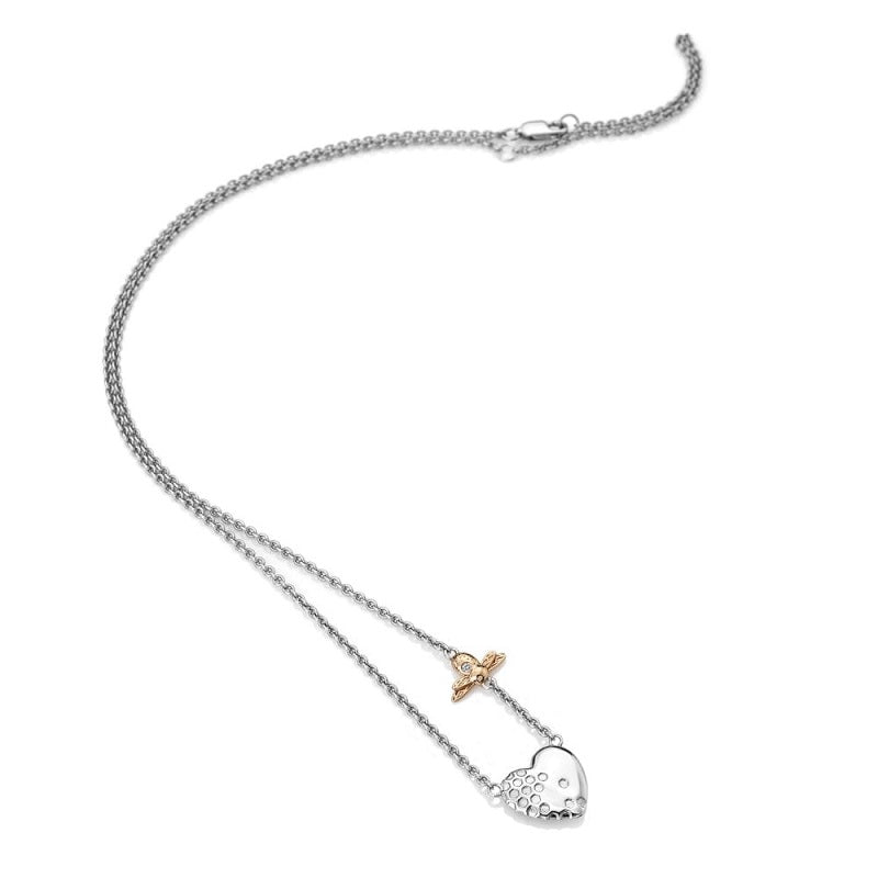 Hot Diamonds Honey Bee Heart Necklace DN146 - Hollins and Hollinshead