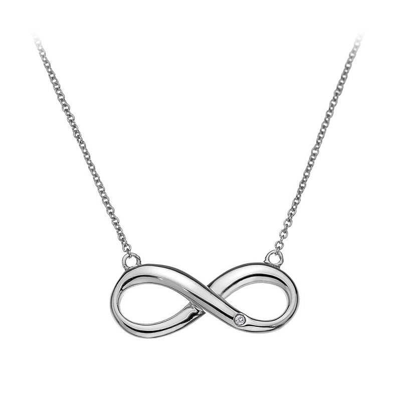 Hot Diamonds Infinity Silver Necklace DN096 - Hollins and Hollinshead