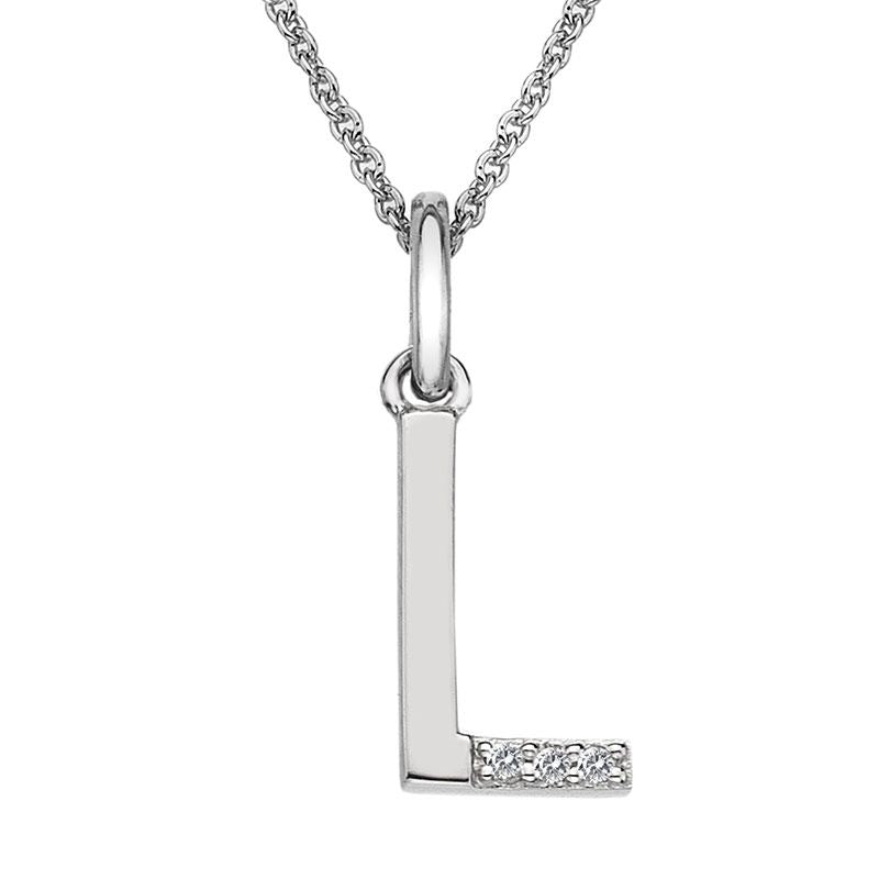 Hot Diamonds Initial L Silver Micro Pendant DP412 - Hollins and Hollinshead