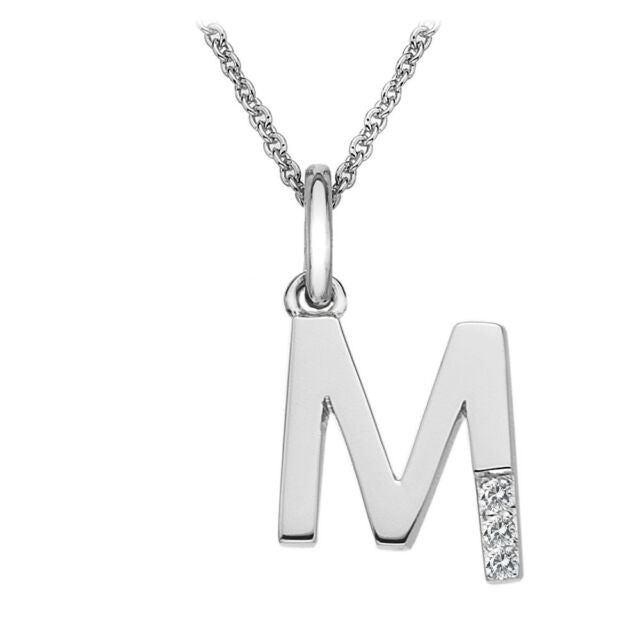 Hot Diamonds Initial M Silver Micro Pendant DP413 - Hollins and Hollinshead
