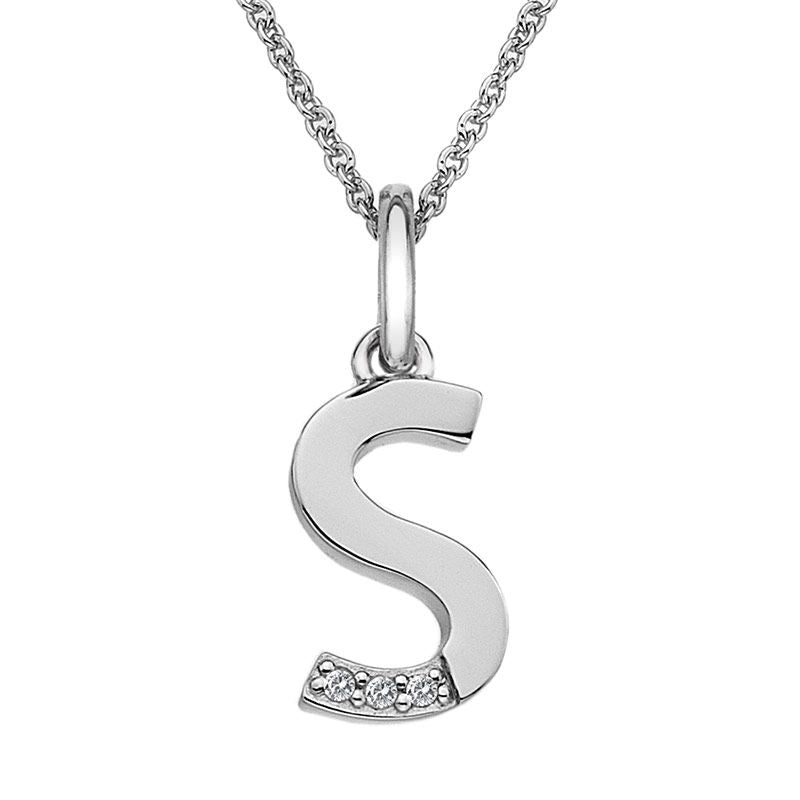 Hot Diamonds Initial S Silver Micro Pendant DP419 - Hollins and Hollinshead